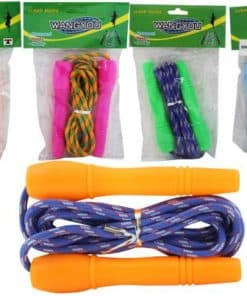 Skipping Rope Plastic Handle Assorted Colors